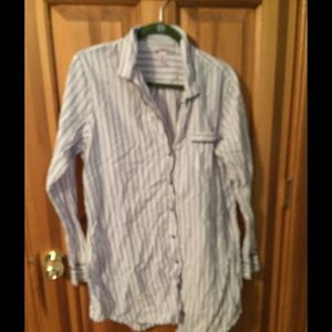 Victoria Secret long sleeve sleep shirt used